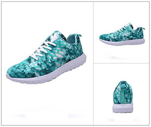Scarpe da Adulto Tennis Fitness Donna Ginnastica Wasser Unisex Running Outdoor Basse Sneakers Sportive NEWZCERS Blau Uomo nHfxUqwC