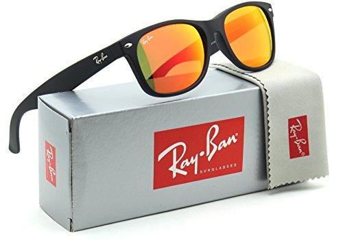 Ray-Ban RB2132 New Wayfarer Matte Flash Unisex Sunglasses 622/69 - - Wayfarer Mirrored Ban Ray