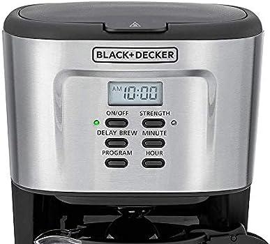 آلة تحضير القهوة القابلة للبرمجة 900 واط بسعة 12 كوب من بلاك +ديكر - Dcm85-B5