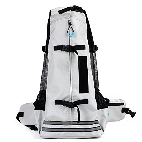 - XDYFF Carrier Pet Backpack for Dogs Cats Medium-Sized Corgi Teddy Doodle Shiba Inu Outdoor Portable pet Backpack Two-Shoulder Dog Bag,Gray,L