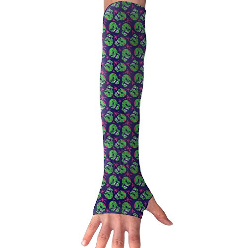 Vintage Halloween Zombie Skull UV Protection Cooling Arm Sleeves For Men & Women.Perfect For Cycling,Driving,Basketball,Football & Outdoor (Ladies Halloween Makeup Ideas)