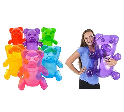6 Inflatable Gummy Bears 24 Inches Tall Party Decorations Photo Ops CandyLand -