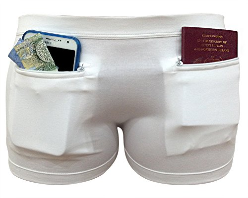 Companion Base (Clever Travel Companion Women's Underwear with Secret Pocket, White, Large)