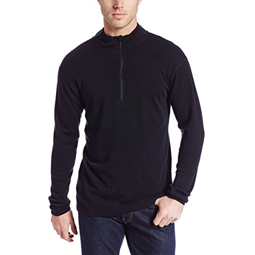 Minus33 Merino Wool Men's Isolation Midweight 1/4 Zip, Charcoal Grey, Large