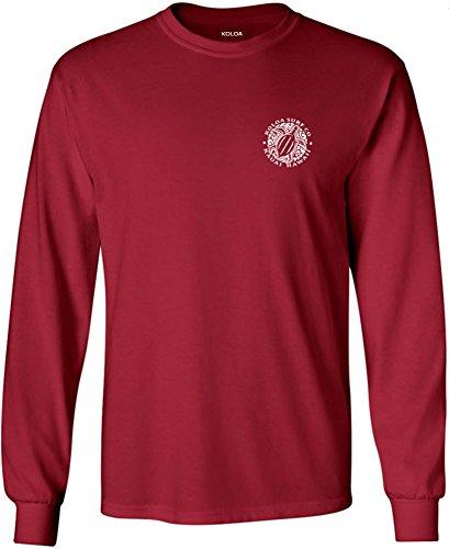 Koloa Surf(tm) Hawaiian Turtle Logo Long Sleeve T-Shirt-Cardinal-XL ()