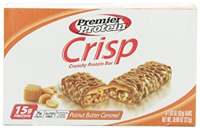Premier Nutrition Protein Crisp Bars, Peanut Butter Caramel