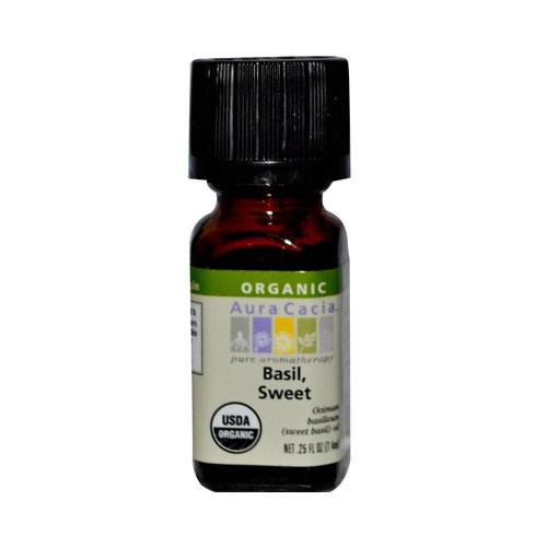 Aura Cacia Organic Basil Sweet - .25 oz by Essential Oils and Co.
