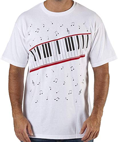 CIGUO Mens Boys Perfect Cosplay OLODUM Beat It Piano Peace Anti War T- Shirts (S, White-2) -
