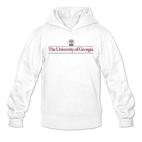 Men Uga University Of Georgia College Logo Hoodies White