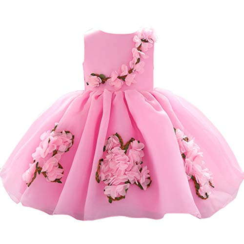 WOCACHI Toddler Kids Baby Girls Flower Princess Party Performance Formal Tutu Dress 0-3M 0-6M 3-6 Mos 6-9M 9-12M 6-12M 12-18M 18-24M 0-3T 0-24 Months 2 Years and Up 2T 3T -