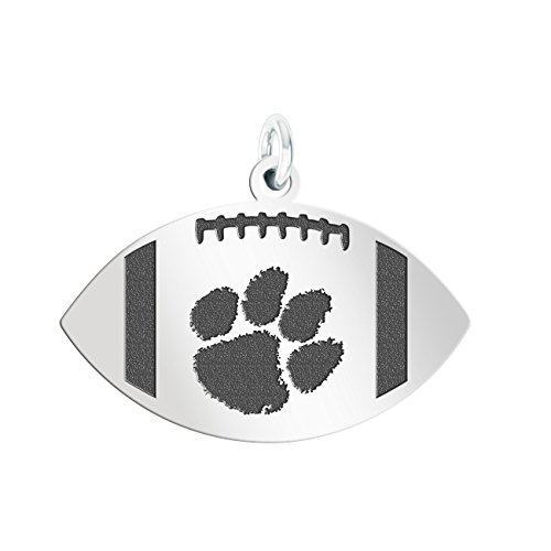 College Jewelry Clemson University Tigers Sterling Silver Antiqued Football Cut Out ()