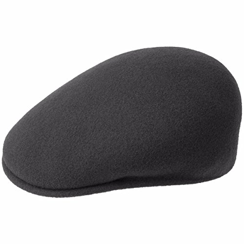 Kangol Men's Classic Wool 504 Cap, Our Most Iconic Shape, Dark Flannel (Small) ()