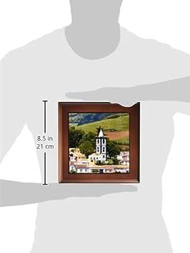 Faial Island Azores Islands 3dRose ft/_37618/_1 Horta Village 8 by 8-Inch, Portugal North Atlantic Ocean Framed Tile