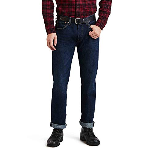 Levi's Men's 501 Original Fit Stretch Jeans, Sponge, 33W x 30L ()