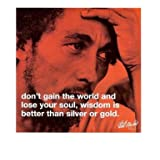 Bob Marley Wisdom Iphilosophy Music Quote Poster Print 16x16