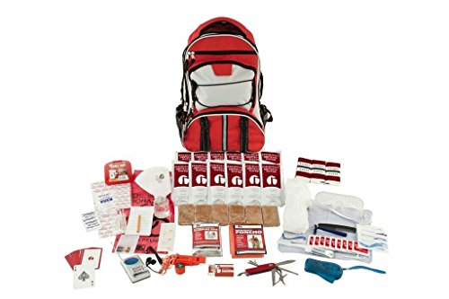 Guardian Survival Gear Hiker's Deluxe Emergency Kit, Red Backpack, 1 Person