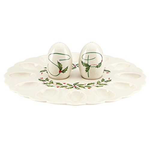 Lenox Holiday Egg Platter with Salt and Pepper ()