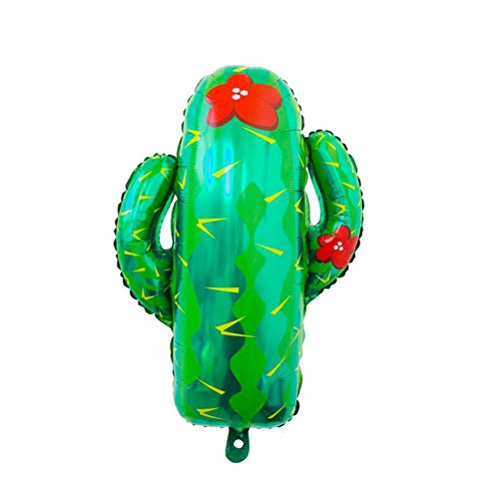 Cactus Aluminum Balloons Hawaii Tropical Forest Party Decor Foil Balloons Fast by Om­_sell