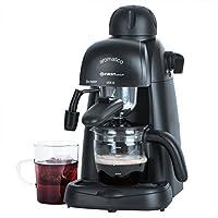 4 Bar Siebträger Espressomaschine mit 800 Watt, Espressokocher mit Glaskanne,...