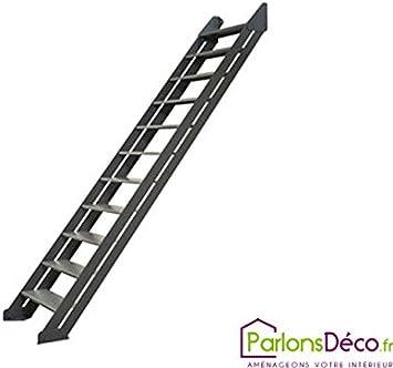 Adaptable 11 peldaños de escalera, acero y arenado fosfatado barnizado: Amazon.es: Bricolaje y herramientas