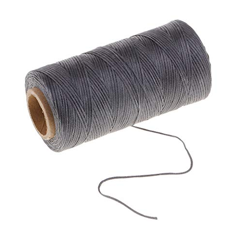 200m 1mm Polyester Flat Waxed Thread for Leather Sewing, Shoe Clothes Repair (Color - S09)