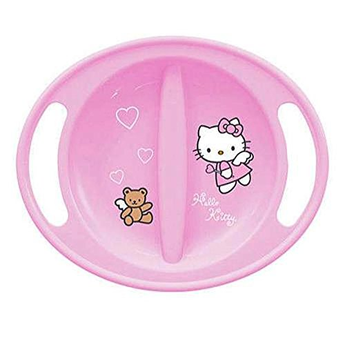 Hello Kitty Baby Feeding Plate in Light Pink - Microwave Safe - 6+ Months Trudeau