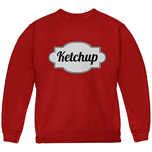Halloween Ketchup Costume Red Youth Sweatshirt - Youth - Ketchup Costume Halloween