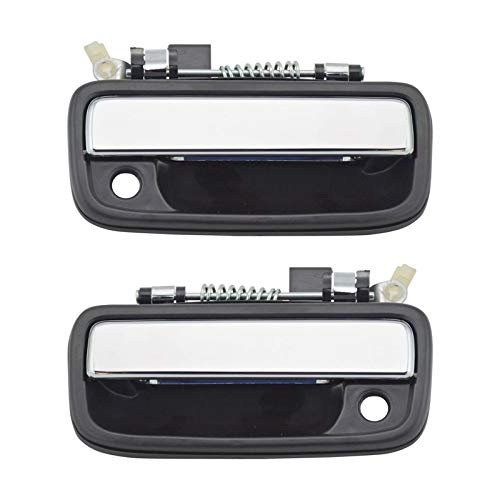 Chrome & Black Outside Exterior Door Handle Left/Right Pair Set for Tacoma Truck ()