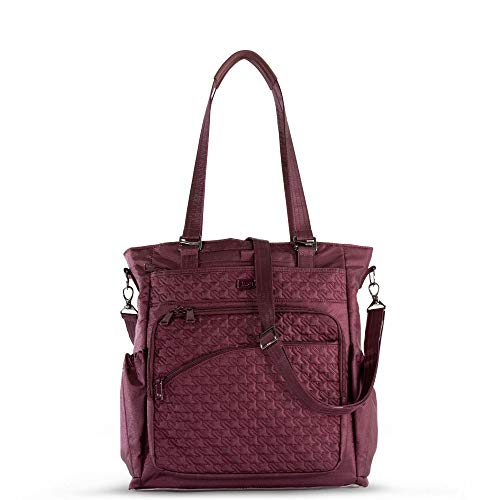 Wine Ace - Lug Women's Ace 2 Convertible Travel Tote, Shimmer Wine, One Size
