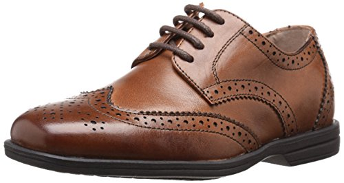 Florsheim Kids Reveal Wing Tip, Oxford (Little Kid/Big Kid),Cognac,10 ()