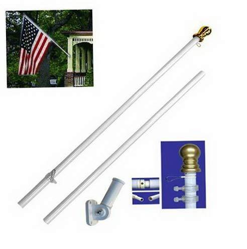 Kaputar Wall-Mount Aluminum Heavy Duty Flag Pole 6 Spinner Tangle Free Flagpole Kit | Model FLG - 6160