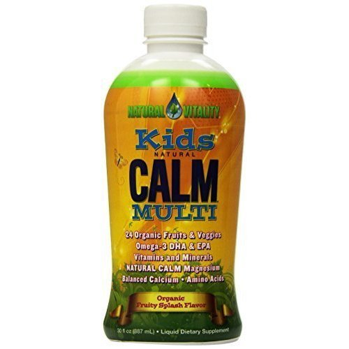 Natural Vitality - Kids Natural Calm Multi (Organic Fruity Splash Flavor, 30oz) by Natural Vitality