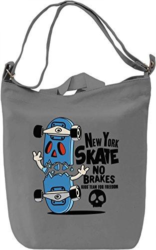 New york skate Borsa Giornaliera Canvas Canvas Day Bag| 100% Premium Cotton Canvas| DTG Printing|