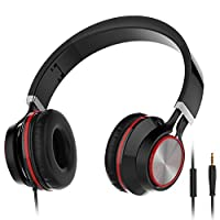 Headphones, Wackolee 015IP Headphones with Microphone for Smartphones Mp3/4 Laptop Computers Tab let Macbook Folding Gaming Earphones