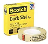 Scotch Double Sided Tape, 0.25 x 36 Yards, 2 Pack (665)