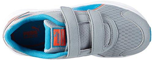 Puma Descendant v3 V Kids - zapatilla deportiva de material sintético Niños^Niñas Gris - Grau (quarry-atomic blue 05)
