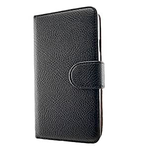 Luxury PU Leather Flip Case Cover with Card Slot and Stand for Samsung Galaxy Note 3/N9006(Assorted Colors) , Black
