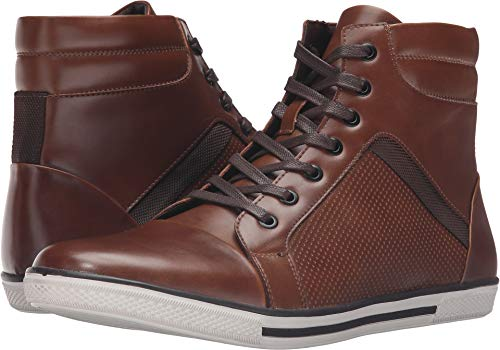 Brown High Top - Kenneth Cole Unlisted Men's Crown Worthy Fashion Sneaker, Cognac, 8 M US