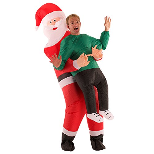 MorphCostumes Christmas Santa Claus Inflatable Costume - One Size Fits Most