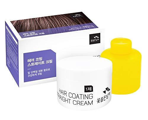 THE FLOWER MEN HAIR COATING STRAIGHT CREAM (Best Hair Straightener Cream For Mens)