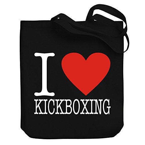 Teeburon I LOVE Kickboxing CLASSIC Canvas Tote Bag by Teeburon