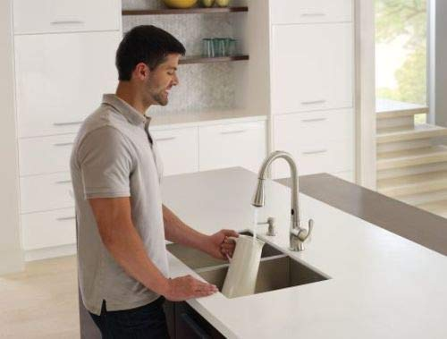 Moen 87340ESRS Ridgedale One-Handle High Arc Pulldown Kitchen Faucet Spot Resist Stainless