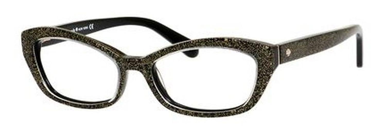 Amazon.com: Kate Spade Cristi Eyeglasses-0JLQ Black Gold Glitter ...