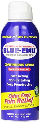 Blue Emu Continuous Pain Relief Spray, 4 -