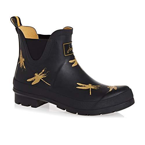 - Joules Womens Wellibob Rain Boot, Black Dragonfly, Size 6