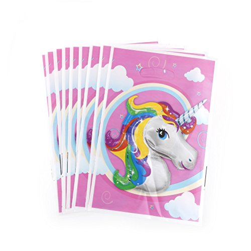 IYSHOUGONG 20 Pcs Unicorn Theme Party Gift Bags Candy Bag Loot Bags for Kids Baby Shower Birthday Decor