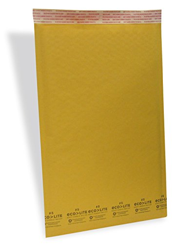 Ecolite 5 Self-Sealing Kraft Bubble Mailers, 16