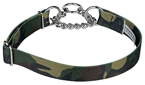 Country Brook DesignWoodland Camo Half Check Dog Collar - Large