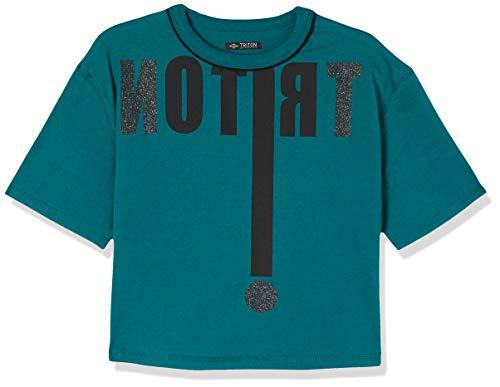 Triton Camiseta Estampada Masculino, G, Verde
