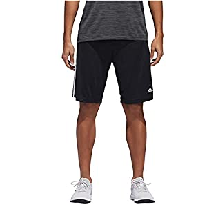 adidas Mens Performance Climalite Triple Stripe Gym Athletic/Training Shorts